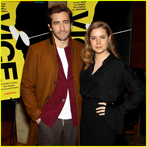 Jake Gyllenhaal Supports Friend Amy Adams at 'Vice' Reception