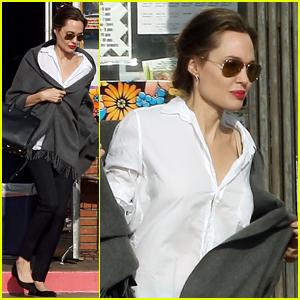 Angelina Jolie Runs Errands After Christmas