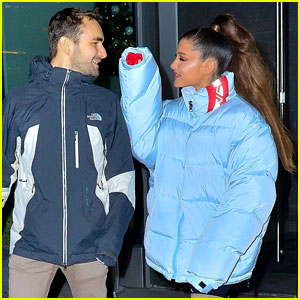 Ariana Grande & Former Broadway Co-Star Aaron Simon Gross Hang Out in NYC!