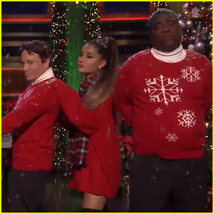 Ariana Grande Joins 'SNL' Greats to Recreate 'I Wish It Was Christmas Today' (Video)