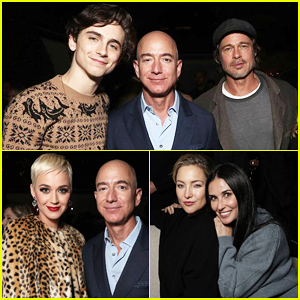 Brad Pitt, Timothée Chalamet, Katy Perry & More Get Festive at Amazon Studios Holiday Party!