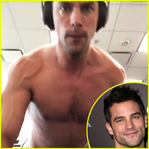 Fifty Shades' Brant Daugherty Does a Shirtless, One-Armed Push Up!