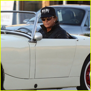 Caitlyn Jenner Rides Around in Her Vintage Car in Malibu
