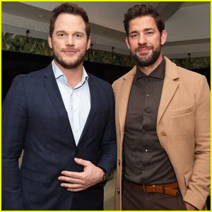 Chris Pratt Hosts Special 'A Quiet Place' Screening for John Krasinski!