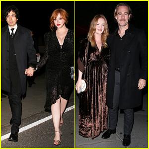 Christina Hendricks & James Van Der Beek Enjoy Date Nights at Jennifer Klein's Holiday Party