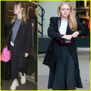 Dakota & Elle Fanning Have a Day of Pampering in Los Angeles!