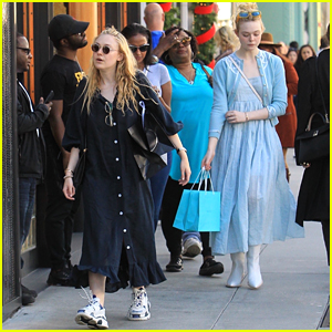 Dakota & Elle Fanning Shop With Their Mom in Beverly Hills!