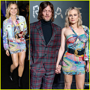 Diane Kruger & Boyfriend Norman Reedus Couple Up at Versace Pre-Fall 2019 Runway Show!