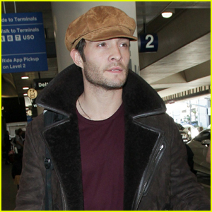 Ed Westwick Jets Into LAX Airport After the Holidays