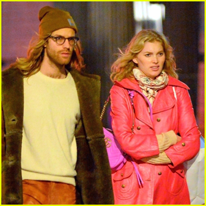 Elsa Hosk & Boyfriend Tom Daly Go Christmas Shopping in NYC