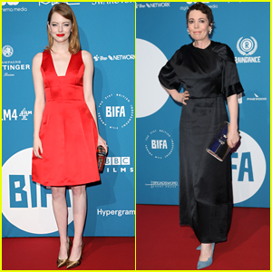 Emma Stone & Olivia Colman Arrive for BIFAs 2018!