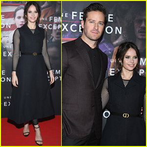 Felicity Jones & Armie Hammer Premiere 'On the Basis of Sex' in Paris!