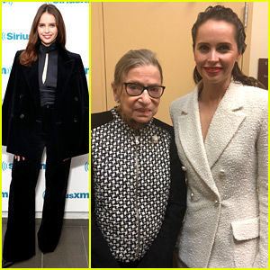 Felicity Jones Meets Up with Ruth Bader Ginsburg, Who She Plays in 'On the Basis of Sex'