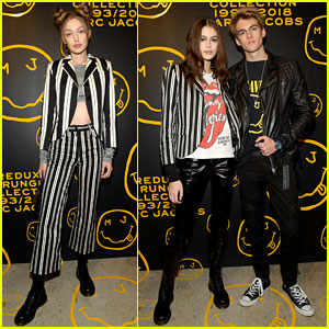 Gigi Hadid & Kaia Gerber Stun in Stripes at Marc Jacobs' Madison Store Opening