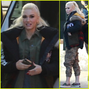 Gwen Stefani Hits the Recording Studio in Los Angeles!