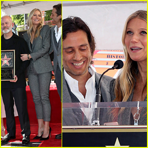Gwyneth Paltrow & Brad Falchuk Honor Their Matchmaker Ryan Murphy at Walk of Fame Ceremony!