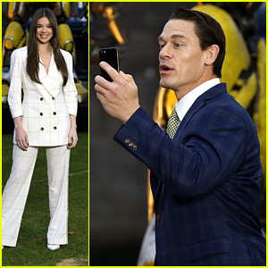 John Cena Shoots Instagram Story At 'Bumblebee' Photocall in London With Hailee Steinfeld