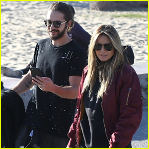 Newly Engaged Heidi Klum & Tom Kaulitz Go Bike Riding Together