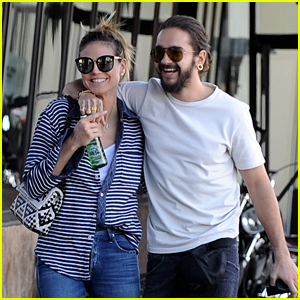 Heidi Klum & Fiance Tom Kaulitz Go Motorcycle Shopping