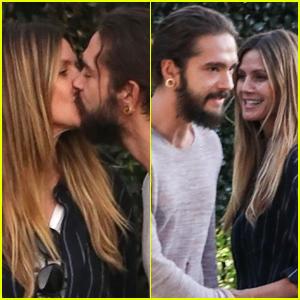 Heidi Klum & Tom Kaulitz Kiss, Share Playful Moment After Dinner!