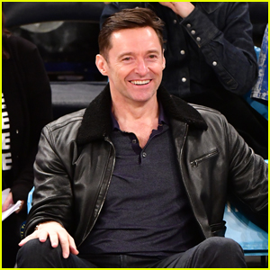 Hugh Jackman Checks Out the Knicks Game in NYC!