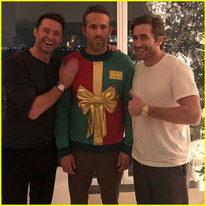 Hugh Jackman & Jake Gyllenhaal Prank Ryan Reynolds at Their Christmas Party!