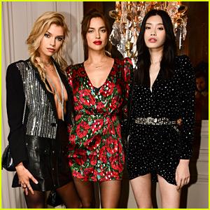 Irina Shayk & More Models Celebrate The Kooples in Paris