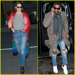 Jamie Foxx Joins Girlfriend Katie Holmes for Birthday Dinner!