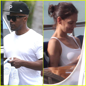 Jamie Foxx & Katie Holmes Enjoy Romantic Getaway in Miami!