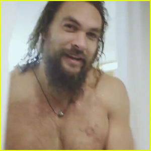 Jason Momoa Goes Shirtless While Promoting 'SNL' From the Shower - Watch Now!