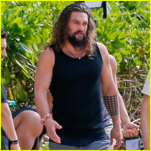 Jason Momoa Hits the Beach in Hawaii to Promote 'Aquaman'
