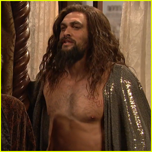 Jason Momoa Goes Shirtless for Christmas Sketch on 'SNL' - Watch Now!