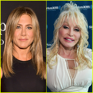 Jennifer Aniston Reacts to Dolly Parton's Husband Saying He Wants a Threesome with Her
