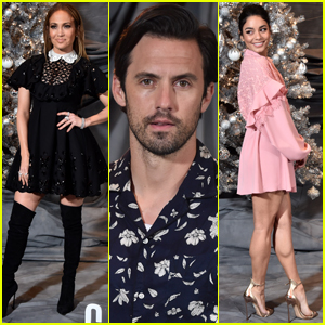 Jennifer Lopez Joins Milo Ventimiglia & Vanessa Hudgens at 'Second Act' Photocall!