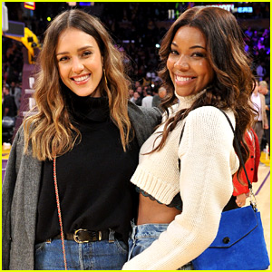 Jessica Alba & Gabrielle Union Attend a Basketball Game Together!
