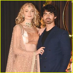 Joe Jonas & Sophie Turner Celebrate at Nick Jonas & Priyanka Chopra's Wedding Reception!