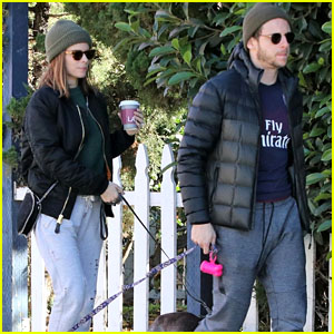 Kate Mara & Jamie Bell Take a Morning Walk Together With Their Dogs!