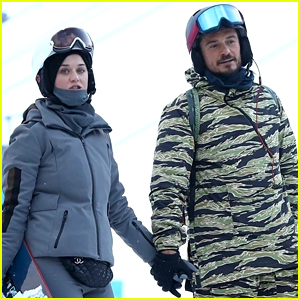 Katy Perry & Orlando Bloom Hold Hands While All Bundled Up in Aspen