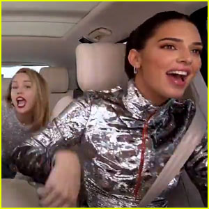 Kendall Jenner, Hailey Bieber, & Miley Cyrus Have a 'Party in the USA' on 'Carpool Karaoke!' (Video)