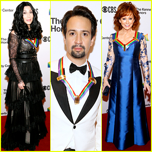 Cher, Reba McEntire, & Lin-Manuel Miranda Get Celeb Support at Kennedy Center Honors 2018!