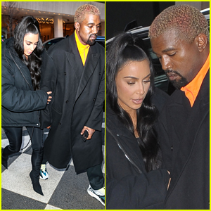 Kim Kardashian Holds On to Kanye West After Lunch Date