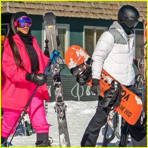 Kim Kardashian & Kendall Jenner Hit the Slopes in Aspen!