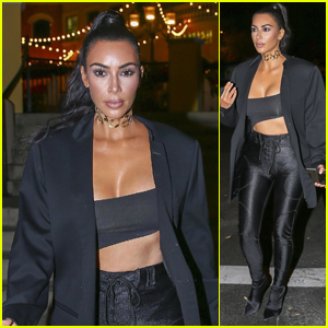 Kim Kardashian Heads Out After a Sushi Dinner at SUGARFISH!