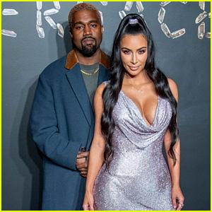 Kim Kardashian & Kanye West Strike a Pose at Versace Fashion Show in NYC!