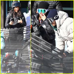 Kourtney Kardashian Joins Scott Disick & Sofia Richie on the Ski Slopes in Aspen