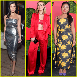 Kourtney Kardashian, Olivia Wilde & More Ladies Hit Carpet at GQ Men of the Year 2018!