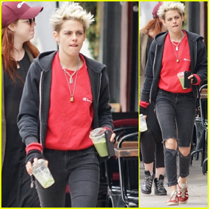 Kristen Stewart Heads Out After Lunch With Friends in LA