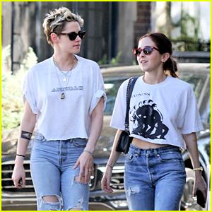 Kristen Stewart & Sara Dinkin Wear Matching Outfits to Lunch
