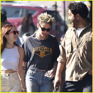 Kristen Stewart & Sara Dinkin Meet Up with CJ Romero on Christmas Eve