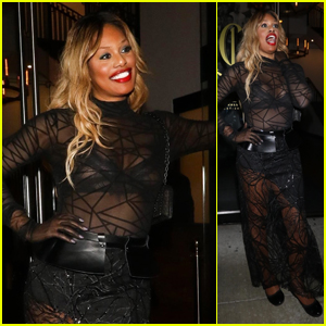 Laverne Cox Strikes a Pose at Catch in West Hollywood